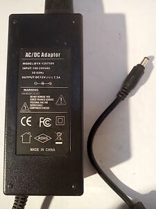 Lot-of-5-BYX-AC-DC-12V-7-5A-AC-Power-Adapters