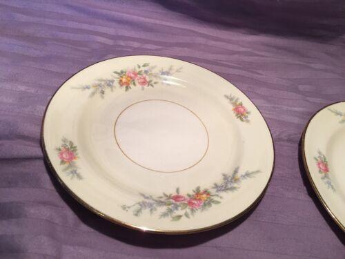 "Vintage Eggshell Nautilus Ferndale Homer Laughlin 6"" Plates N1577 2"