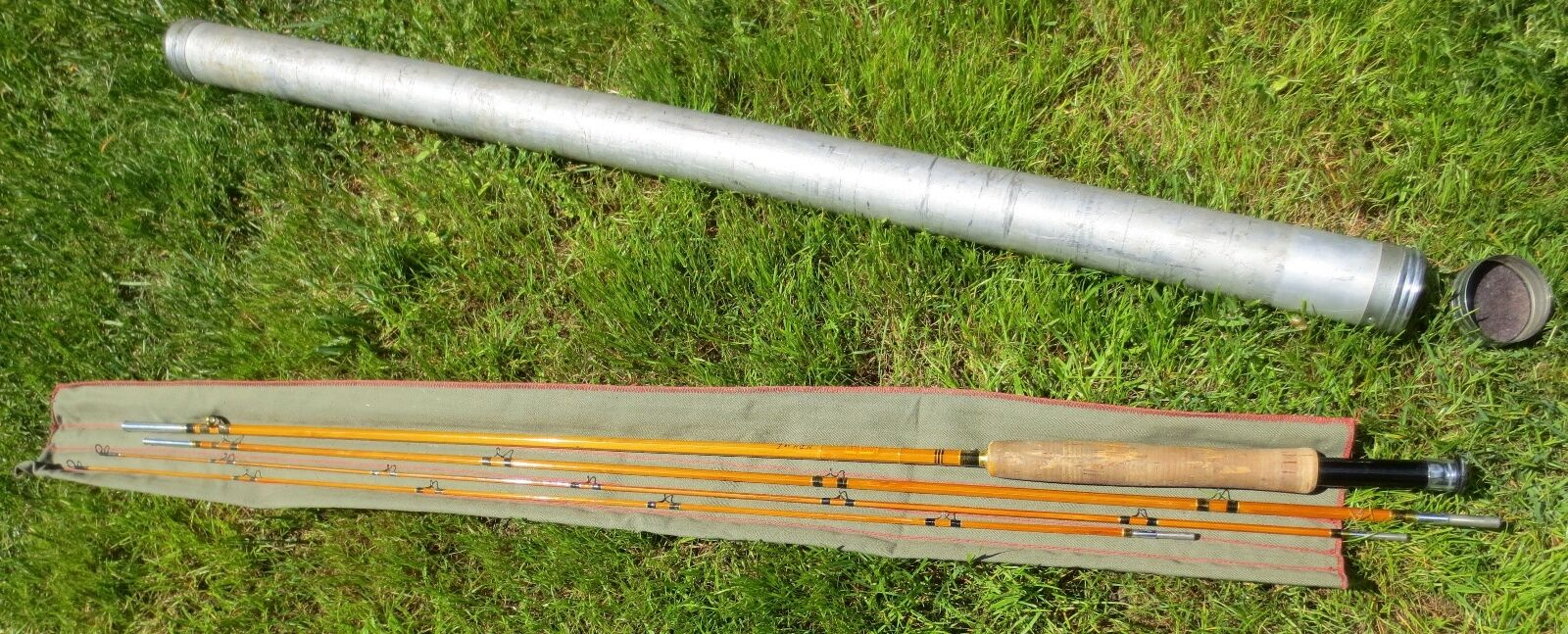 Vintage SOUTH BEND   CROSS Double Built 253 9' Split Bamboo Fly Fishing Pole