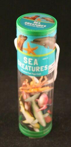 Sea créatures-Assortiment de 12 figurines collector-Set en tube-meilleures marques