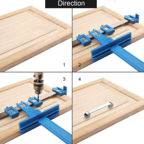 Locher Punch Locator Drill Holzbearbeitung Bohrführung Bohrhilfe Holz Werkzeug