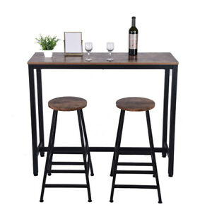 3-Piece-Pub-Table-Set-Bar-Stools-Dining-Kitchen-Furniture-Counter-Height-Chairs