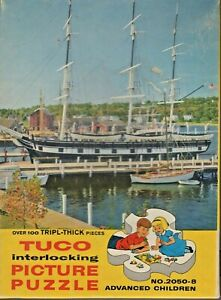 PUZZLE-TUCO-LAST-OF-THE-WHALERS-U-S-A-OVER100-TRIPL-THICK-PIECES-USED-COMPLET
