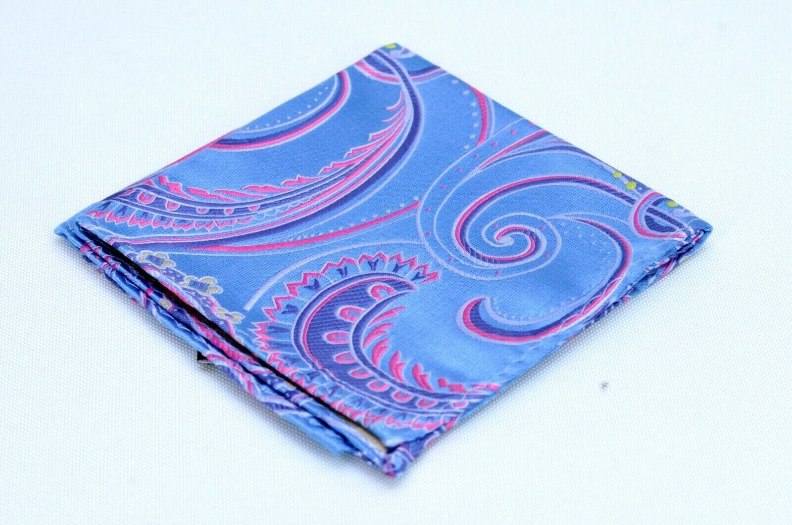 Lord R Colton Masterworks Pocket Square Blue & Pink Supremacy Silk New