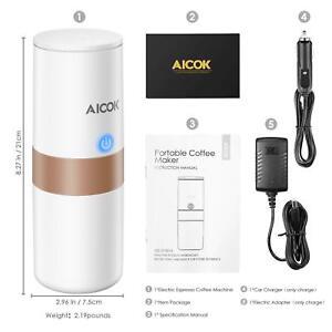 Aicok-Cafetera-Portatil-Mini-Maquina-de-Cafe-Nespresso-150ML-ideal-Coche-Oficina