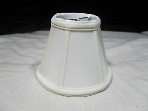 1 ~ Clip-On Chandelier Sconce Lamp Shade ~ Bell Shape ~ Fabric ~ Off White (#10)