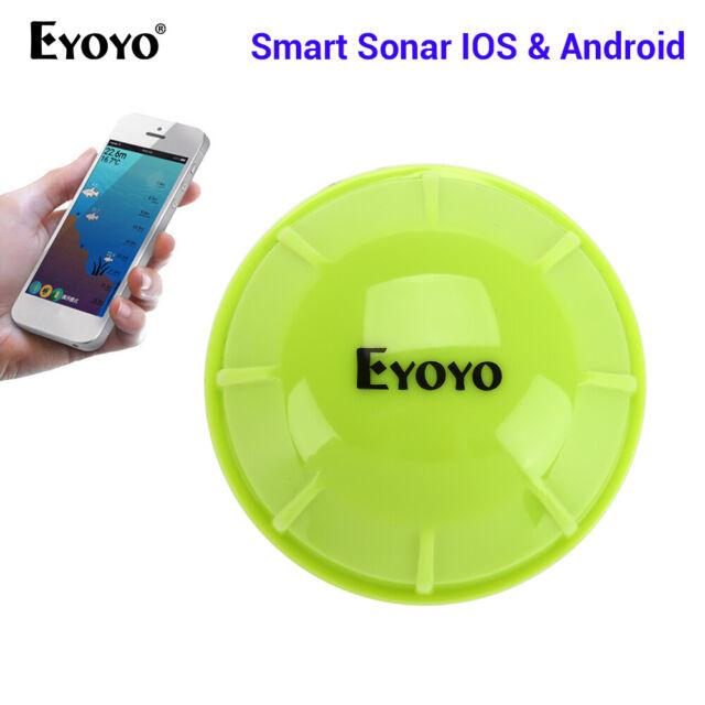 Eyoyo Smart Bluetooth Sonar/Scene Mode Fish Finder 90°Wide Angle With Fish Alarm