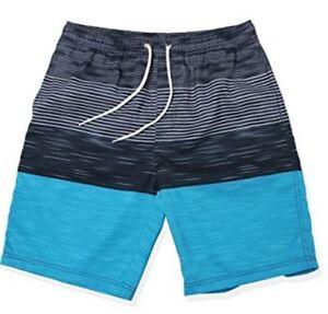 Hombres-Verano-Short-de-Bano-Banador-playa-Beachshort-Moda-rayas