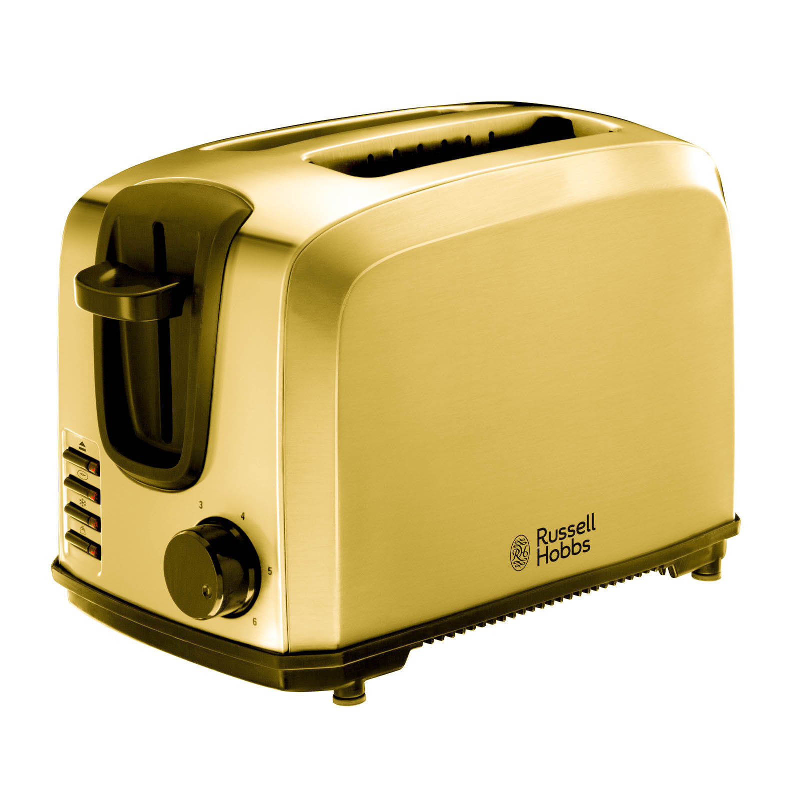 LUXURY 24K or Plated Russel Hobbs Compact 2 Slice Toaster - 20880