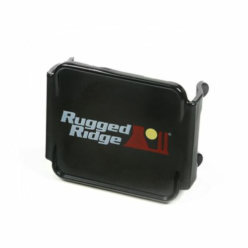 Rugged Ridge 3 Inch Square LED Light Cover Black 15210.48
