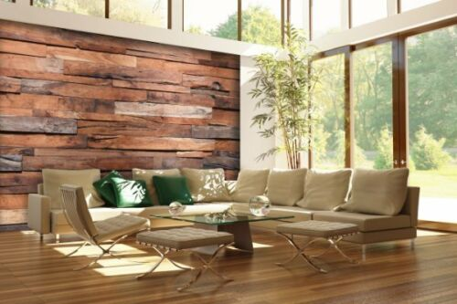 Realistic Reclaimed 3D Wood Mural Modern Rustic Boho Cottage Chic Wallpaper Diy