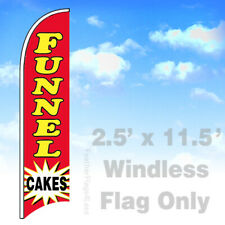 Funnel Cakes Windless Swooper Flag Feather 25x115 Banner Sign Rb