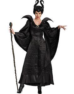 Womens-Evil-Queen-Maleficent-Fancy-Dress-Costume-Deluxe-Wicked-Queen-Costume