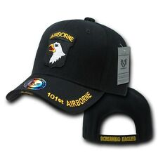 Black 101st Airborne US Army Division Screaming Eagle Eagles Cap Hat Caps Hats