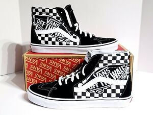 0bc57a478c Vans Sk8 Hi Canvas Skate  Vans Patch  Shoes Black True White SZ 12 ...