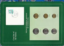 Coin Sets of All Nations Yugoslavia w/card 1990 UNC 1, 2, 5 Dinara 10,20,50 Para