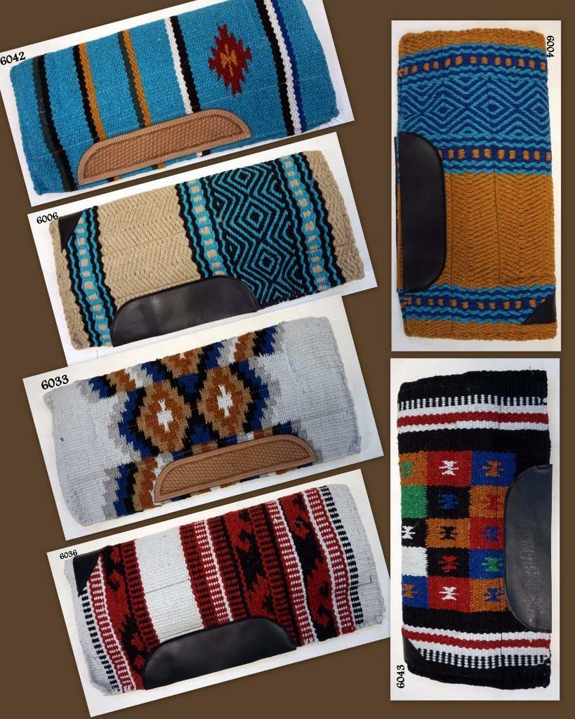 Western Saddle Pad 36x34 100% N Zealand Wool Fleece 6  Assorted colors Closeout  wholesape cheap