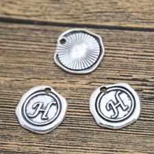 15pcs Letter G Alphabet Charms Silver Tone Alphabet Letter G Pendant 18x18mm