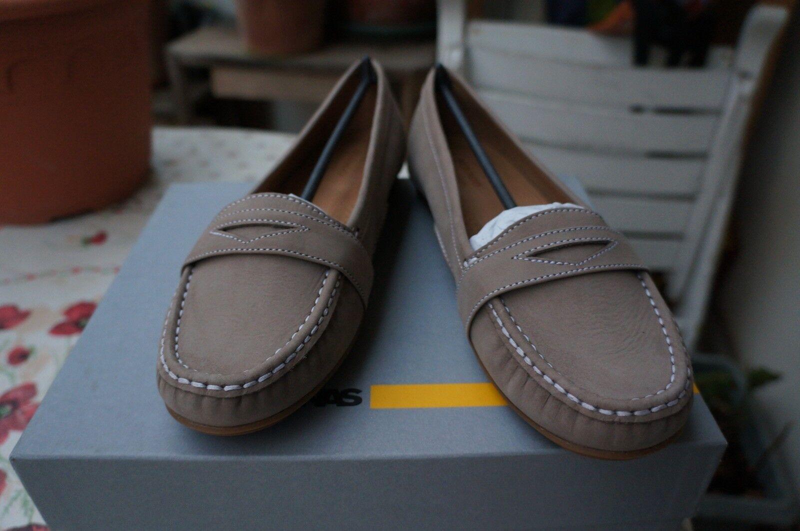 Sebago meriden penny, boat, ballerinas, beige 40.5 EU, uk 7, 26.5 cm