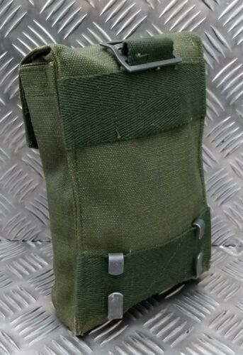 Genuine Vintage Army Issue Green Heavy Duty Canvas Webbing Side Pouch SWP1