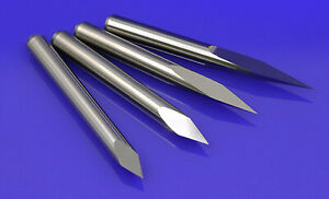 5pc 6mm x20° x 1.2mm double straight flute sharp tool Engraving CNC router bits