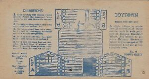 1950 NABISCO TOYTOWN BOX BACKS CEREAL PREMIUM