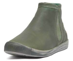 69131ee32c9f Image is loading Softinos-Inge-Womens-Leather-Forest-Green-Chelsea-Ankle-