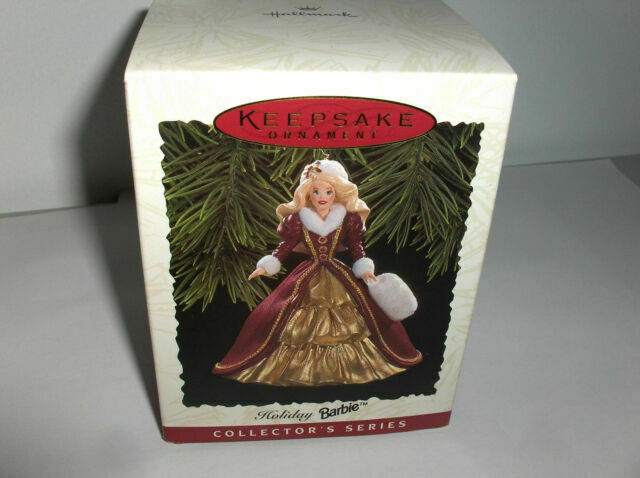 Dated 1996 Keepsake Ornament Fourth in the Holiday Barbie Ornament Series Collector/'s Series Hallmark QXI5371 Sculpted By Patricia Andrews Handcrafted Collectors Series Holiday Barbie