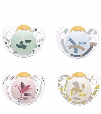 Gr kiefergerechte NUK Form 0-6 Monate NUK Trendline Latex-Schnuller BPA frei