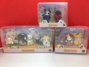 Sylvanian-Families-35th-Anniversary-BABY-Doll-mascot-Limited-3-set-Japan-ninja