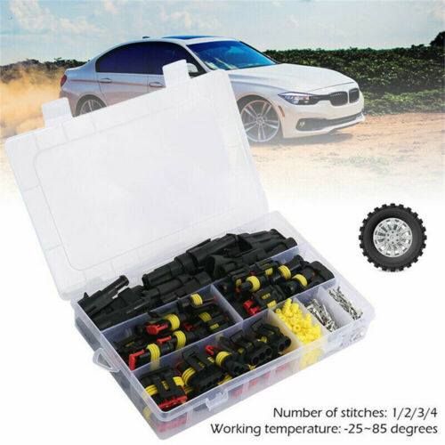 26 Kits 1//2//3//4 Pin Way Super Seal Car Electrical Wire Plug Waterproof Connector