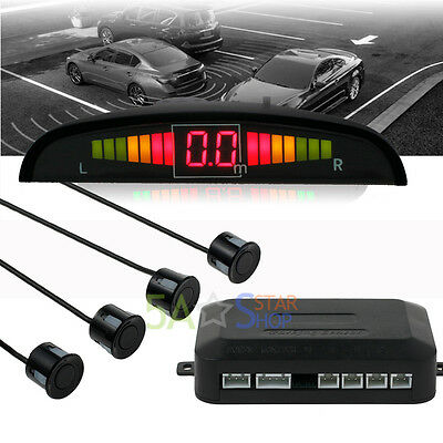Car Rear Reverse Parking 4 Sensors Reversing Audio Buzzer Alarm Kit LED Display