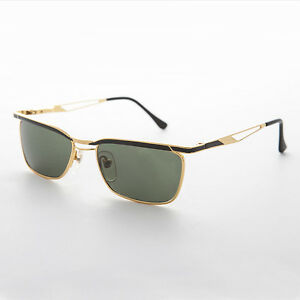 Easy Rider Metal Vintage Mens Sunglasses Black and Gold - Fonda