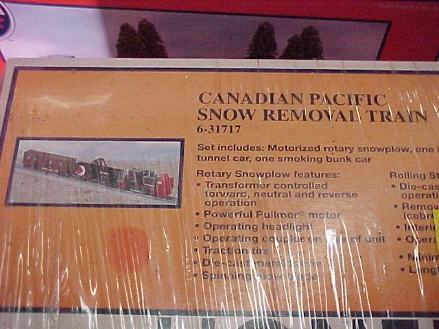 Lionel,, conjunto de eliminación de nieve, CP
