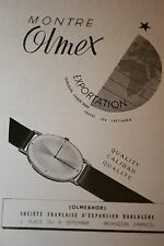 Pub Ad 1947 montre OLMEX Besancon 25 doubs