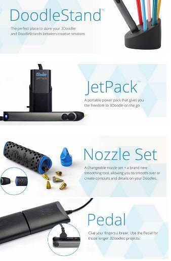 3Doodler 3D Printing Pen Super Accessories Kit - GorillaSpoke Free P&P Worldwide
