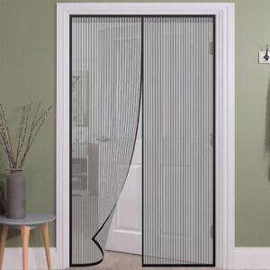 Tenda zanzariera porte balconi anti insetti zanzare magnetica 210x90cm dfh ebay - Tende per porte esterne ...