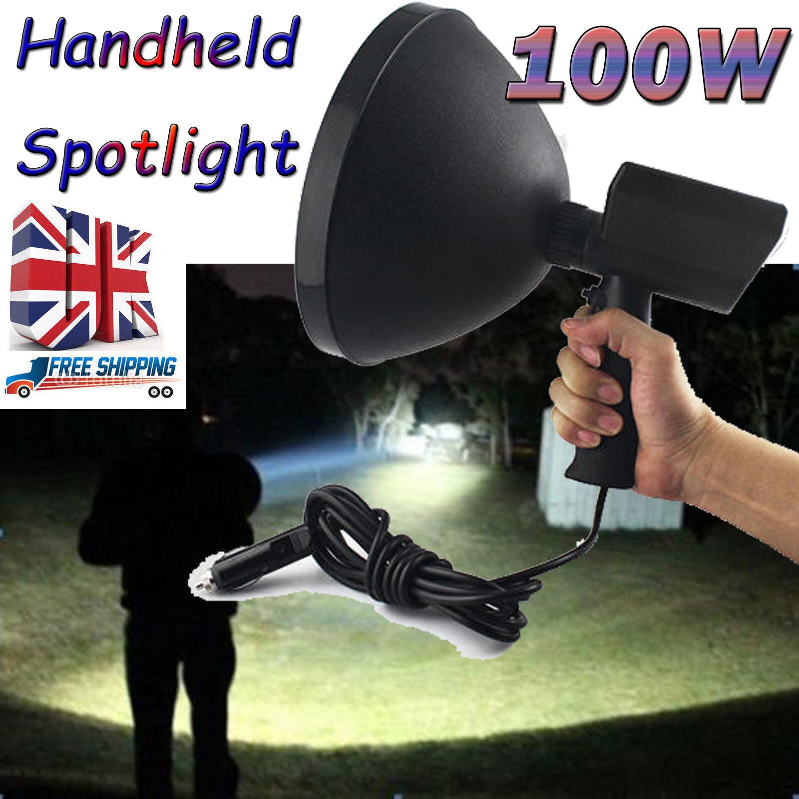 10000lm 12v Spotlight Handheld Hunting Car HID Spot Light Camping Fishing Lamp