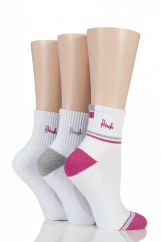 Femmes 3 paire Pringle lyndsey amorti sport chaussettes