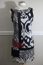 Desigual Women's Black and White Patch Work Shift Dress Size 38 (DR800