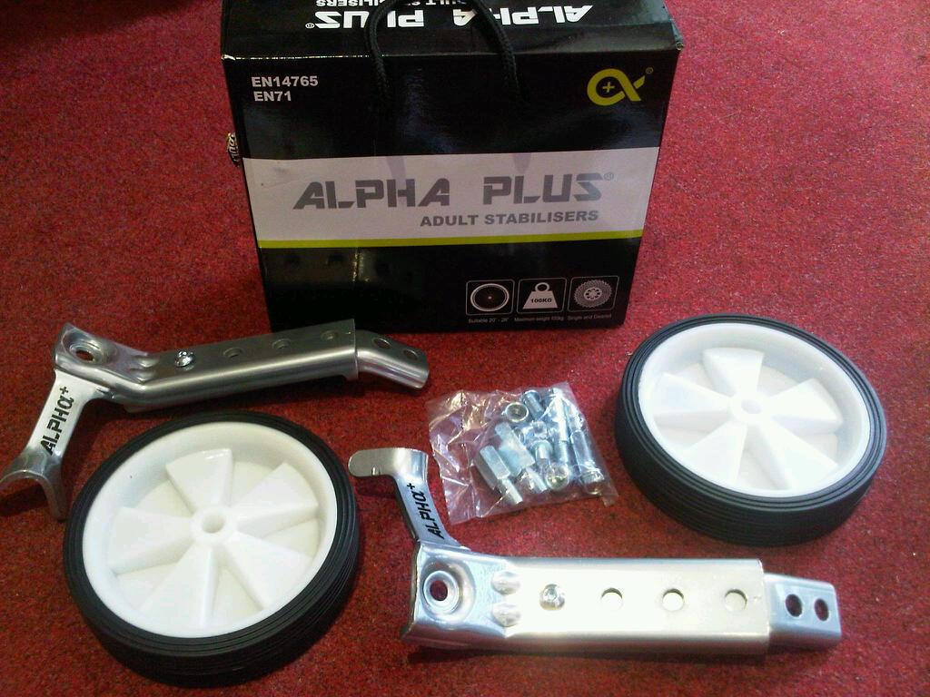 Alpha Plus Adult Stabilisers to fit 20 -26  wheel bikes