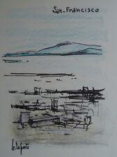 Georges LAPORTE (1926-2000) Technique mixte/papier San-Francisco P1779