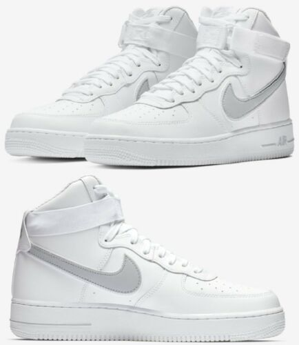 Nike Air Force 1 One High 07 Sneaker Men/'s Lifestyle Shoes White Wolf Grey