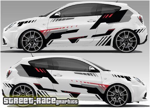 Alfa Romeo Mito Rally 006 Racing Graphics Stickers Car Decals Ebay