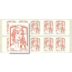 CARNET-MARIANNE-ROUGE-DE-CIAPPA-10-TIMBRES