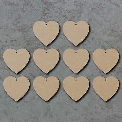MDF Wooden Hearts Shape craft and embellishments laser cut 3mm thick MDF
