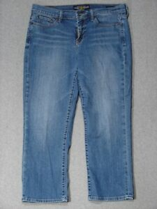 RJ01455-LUCKY-BRAND-DUNGAREES-SWEET-039-N-LOW-CAPRI-CROPPED-WOMENS-JEANS-sz12x31