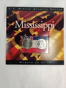2002 Mississippi State Quarters Coins of America U.S. Minted Quarter Dollar
