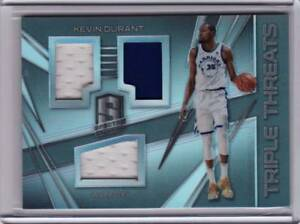 2017 18 Panini Spectra Kevin Durant Triple Threats Jersey Game Worn ... 07975a309