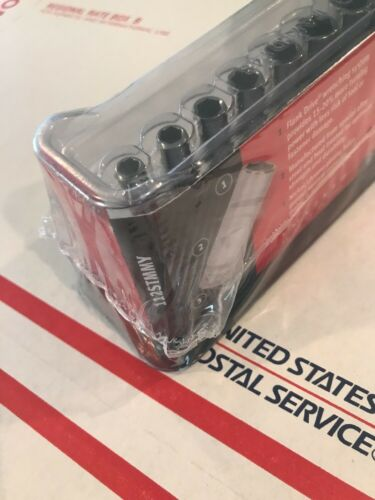 NEW SNAP ON #112STMMY 12 PIECE METRIC 6 POINT  DEEP 1//4 DRIVE SOCKET SET NEW